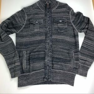 Guess Marled Zippered Sweater size Large